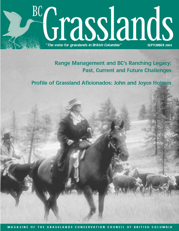 Fall 2003 - BC Grasslands - Magazine of the Grasslands Council of BC