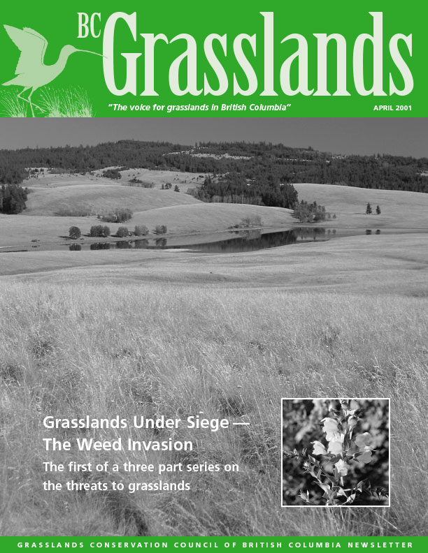 Spring 2001 - BC Grasslands - Magazine of the Grasslands Council of BC