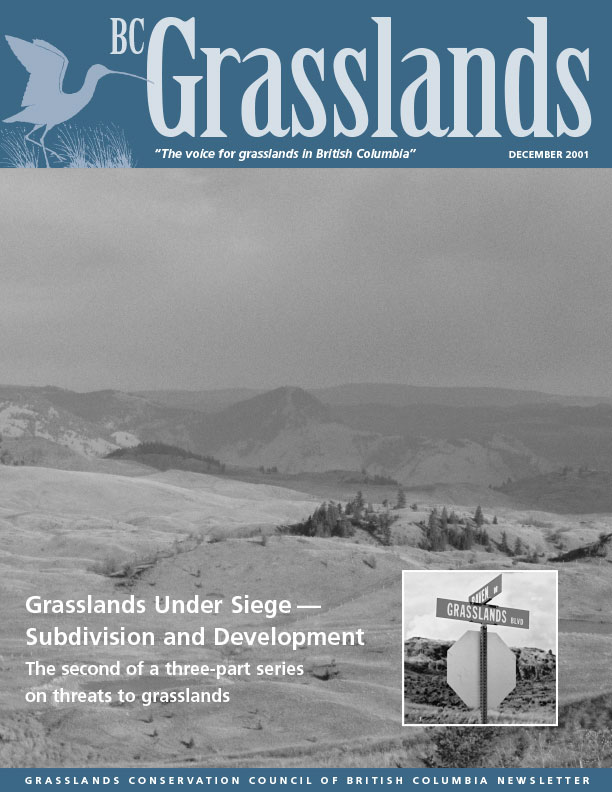 Winter 2001 - BC Grasslands - Magazine of the Grasslands Council of BC