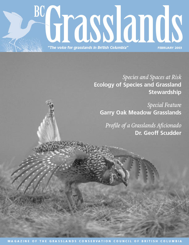 Spring 2003 - BC Grasslands - Magazine of the Grasslands Council of BC